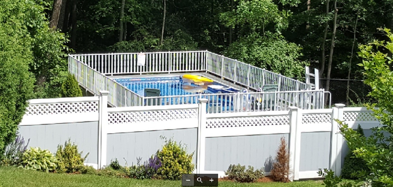 Rectangle Above Ground Pool Cost Reviews Decks